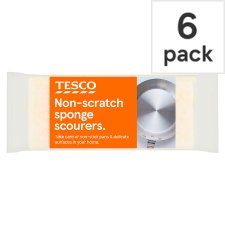 Tesco Non-Scratch Sponge Pan Cleaners 6 Pack