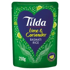 Tilda Lime And Coriander Steamed Basmati Rice 250G
