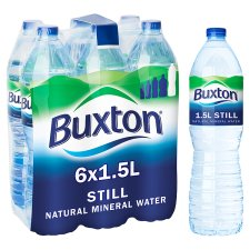 Buxton Natural Mineral Water Still 6 X 1.5Ltr