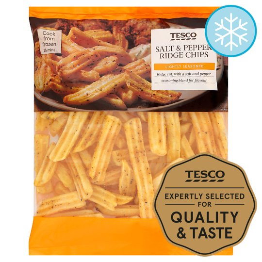 Tesco Salt And Pepper Ridge Chips 750G