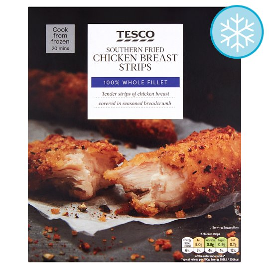 Tesco Southern Fried Chicken Breast Strips 300G