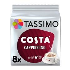 Tassimo Costa Cappuccino Coffee Pods 8 Serving 280G