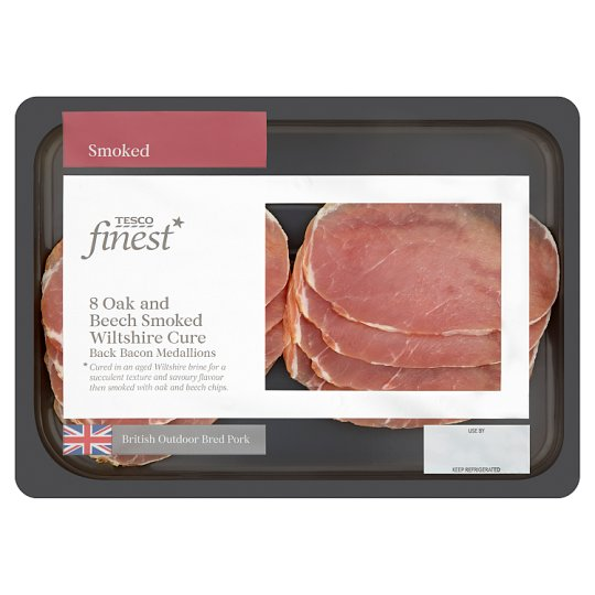 Tesco Finest Smoked Bacon Medallions 160G