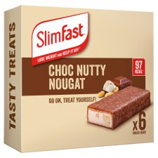 Slimfast Chocolate Nutty Nougat Bars 6 Pack 150G