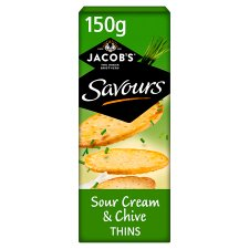 Jacobs Savours Sour Cream & Chive Thins 150G