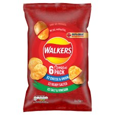 Walkers Variety Crisps 6 X 25 G