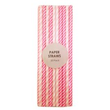 image 2 of Paper Straws 20 Pack
