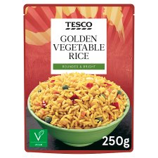 Tesco Microwave Golden Vegetable Rice 250G