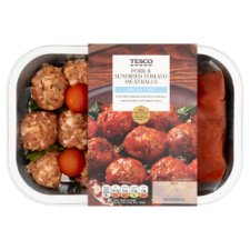 Tesco Pork Sundried Tomato Meatballs 450G