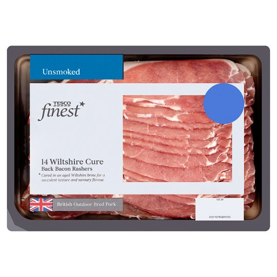 Tesco Finest Wiltshire Bacon Unsmoked 420G