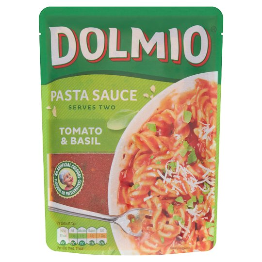 Dolmio Express Tomato And Basil Sauce 340G Pouch