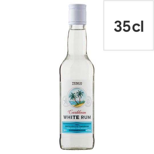 Tesco White Rum 35Cl