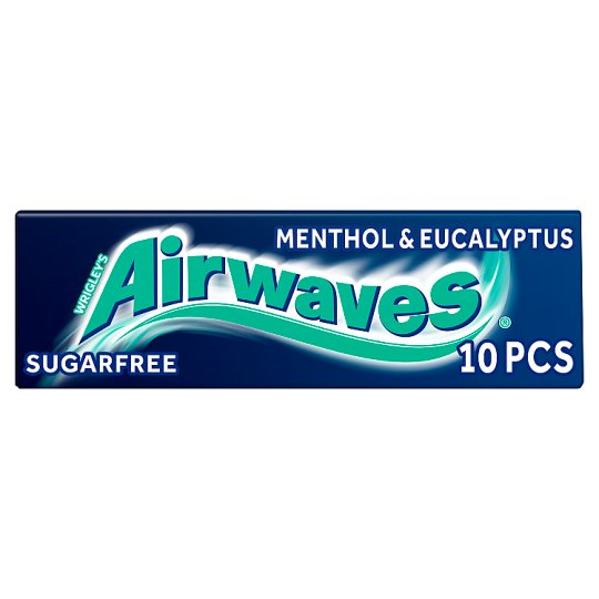 image 1 of Airwaves Menthol And Eucalyptus Gum 10 Pieces