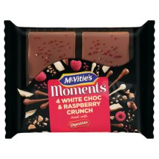 Mcvities Moments 4 White Chocolate And Raspberry Crunches