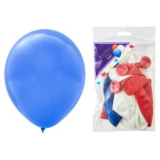 Tesco Red, White And Blue Balloons 10 Pack
