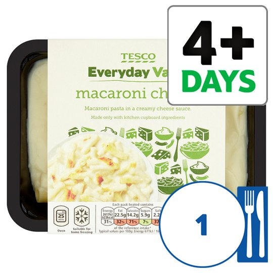 Tesco Everyday Value Macaroni Cheese 400G