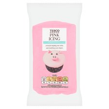 Tesco Ready To Roll Coloured Icing Pink 250G
