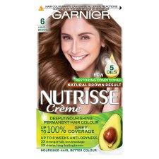 Garnier Nutrisse 6 Light Brown Permanent Hair Dye