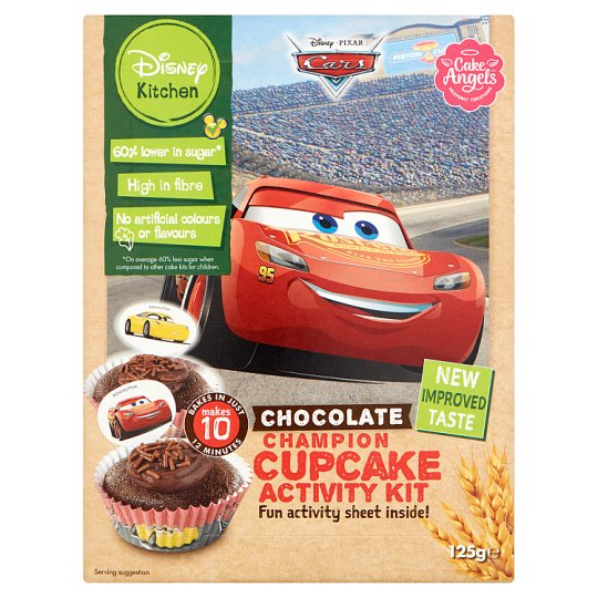 image 1 of Cake Angels Disney Cars Chocolate Cupcake Kit 125G