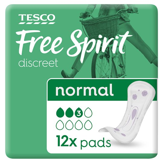 Tesco Free Spirit Discreet Normal Pads 12 Pack