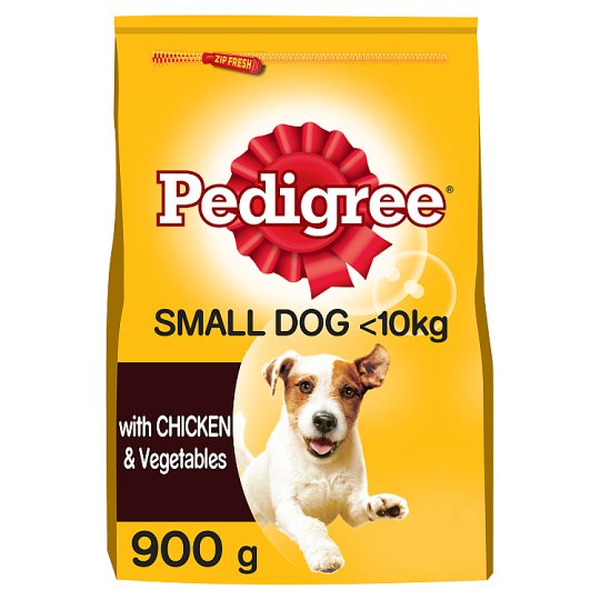 image 1 of Pedigree Small Dog Chicken And Vegetable Dry Dog Food 900G