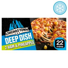 Chicago Town 2 Deep Ham And Pineapple Pizzas 330G
