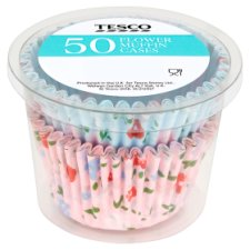 Tesco 50 Floral Muffin Cases