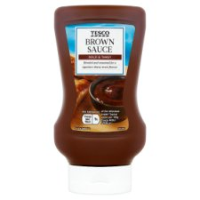 Tesco Squeezy Top Down Brown Sauce 465G