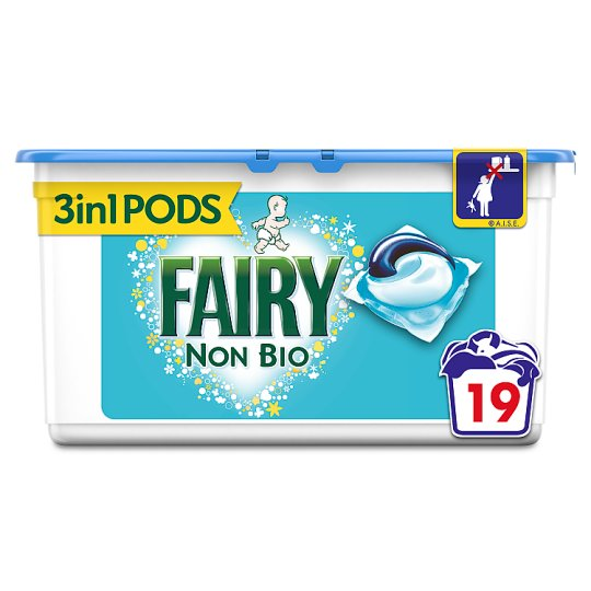 Fairy Non Bio. Washing Pods 19 Washes - Groceries - Tesco