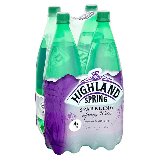 Highland Spring Sparkling Water 4 X 1.5 Litres