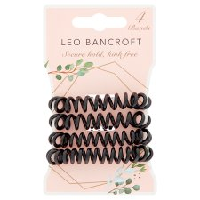 Leo Bancroft Spiral Bands Black 4 Pack