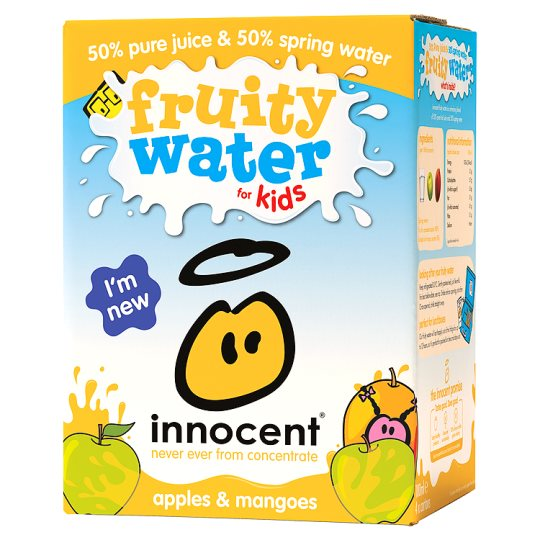 Innocent Apple And Mango Fruity Water For Kids 4X180ml
