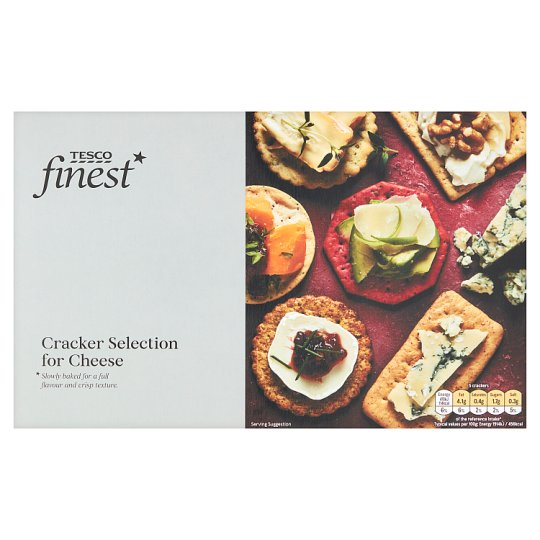 Tesco Finest Assorted Cracker For Cheese 250G