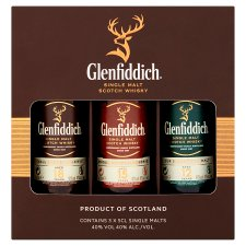 Glenfiddich Single Malt Scotch Whisky Gift Pack 3X5cl