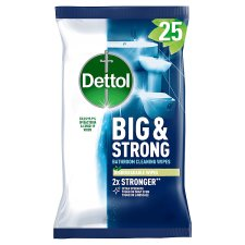 Dettol Big And Strong Bathroom Wipes 25S