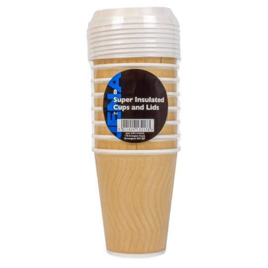 Jena Insulated Cups With Lids 8Pk