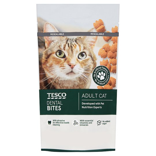 Tesco Dental Bites Cat Dental Treats 50G