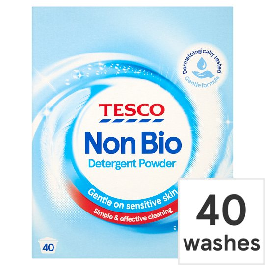 Tesco Non Bio. Laundry Powder 40 Wash 2.6Kg