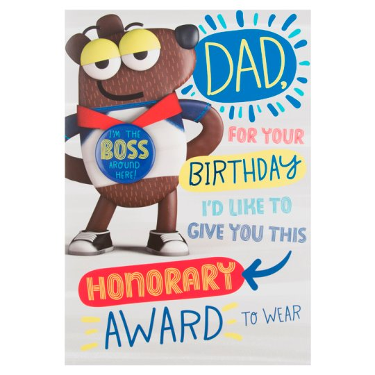 Hallmark Birthday Card Dad Badge I'm The Boss