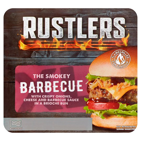 Rustlers The Smokey Barbecue Burger 217G