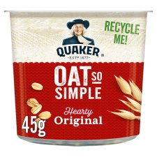 Quaker Oat So Simple Original Porridge Pot 45G