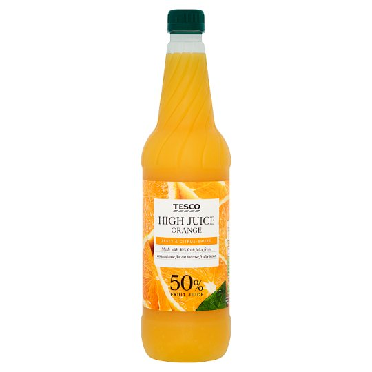 Tesco High Juice Orange Squash 1L