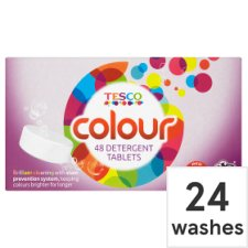 Tesco Colour Tablets 24 Washes 48Pk