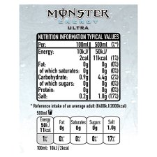 image 3 of Monster Energy Ultra 500Ml