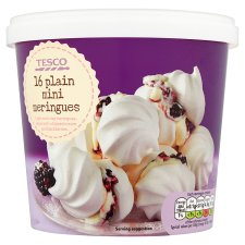 Tesco 16 Plain Mini Meringues