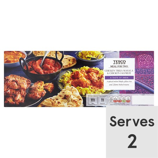 Tesco Indian Tikka/Jalfrezi Meal For2 1.45Kg