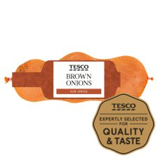 Tesco Brown Onions Minimum 3 Pack 385G
