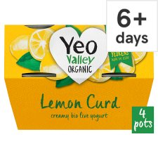 Yeo Valley Whole Milk Lemon Curd Yogurt 4X120g