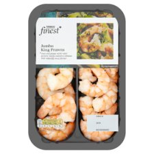 Tesco Finest Jumbo Cooked And Peeled King Prawns 160G