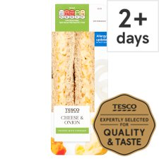 Tesco Cheese And Onion Sandwich